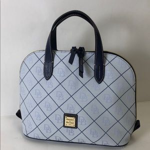 Dooney & Bourke Zip Satchel Glacier Blue purse New